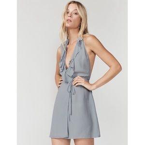 NWT Reformation Waterfall Ruffle Mini Wrap Dress L
